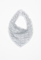 name it - Desin jersey scarf bib - white & navy