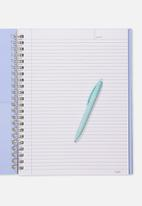Typo - A4 campus notebook - you got this cornflower agate