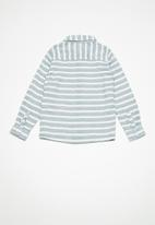 name it - Galasse long sleeve shirt -  blue & white