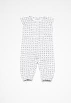 name it - Deagne short sleeve jumpsuit - bright white