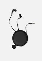 Typo - Travel earphones - black