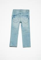 name it - Theo regular denim pants - blue