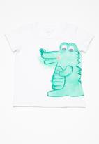 name it - Decan baby short sleeve top - white
