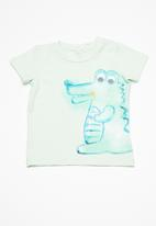 name it - Decan baby short sleeve top - green