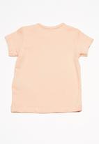 name it - Delene short sleeve top - peach