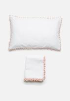 Sixth Floor - Blush kids duvet cover set - pink tassel