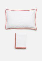 Sixth Floor - Willow kids duvet cover set - coral fringe