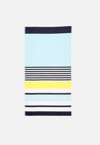 Sixth Floor - Fiji beach towel - turquoise & yellow