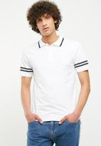 Only & Sons - Palle muscle fit polo - white