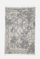 Sixth Floor - Blythe printed rug - grey & cream