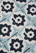 Sixth Floor - Farrah printed rug - mustard & blue