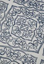 Sixth Floor - Chilton printed rug - navy & cream