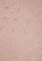 Sixth Floor - Hollace foil printed mini rug - pink & gold