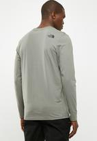 The North Face - Long sleeve fine tee - green