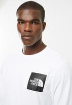 The North Face - Long sleeve fine tee - white