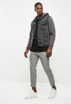 New Look - Jersey sleeve denim jacket - grey