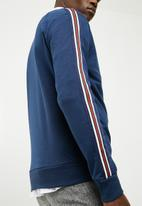 New Look - Colour stripe tape sweater - navy