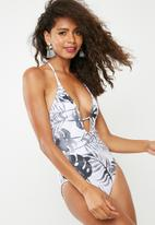 dailyfriday - Plunge halter one piece