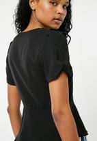 New Look - Sofia button detail blouse - black