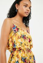 New Look - Macy midi tier dress - mustard