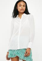 New Look - Popcorn chiffon shirt - white