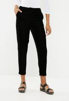 New Look - Velvet slim leg co-ord trousers - black