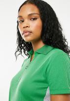 Superbalist - Rib tee dress with zip detail - green