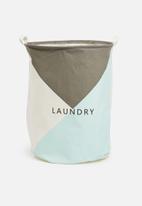 Sixth Floor - Triangle laundry basket - blue & grey