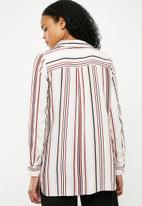 New Look - Otto stripe tie front shirt - multi