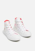 Converse - Chuck Taylor All Star Hi - white/multi/neon pink