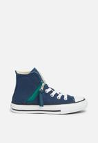 Converse - Chuck Taylor All Star Pull-Zip Hi - navy/royal emerald/white