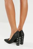 Superbalist - Chev pearled heel - black