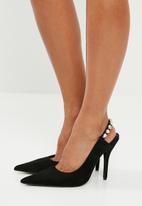 Superbalist - Viola jewelled strap heel - black