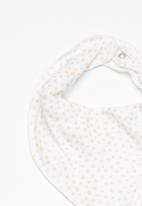 name it - Desin jersey scarf bib - peach & white
