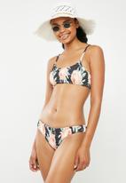 Bacon Bikinis - Floral scrunch bottom - black