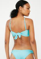 Bacon Bikinis - Scrunch bandeau - blue