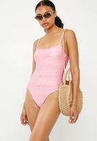 Bacon Bikinis - Crunch one piece - pink