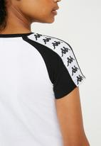 KAPPA - Authentic T-shirt - white & black