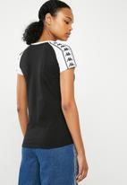 KAPPA - Authentic T-shirt - black & white