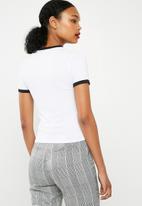Missguided - Rainbow short sleeve ringer T-shirt - multi