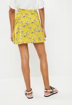 Superbalist - Mini skater skirt - yellow