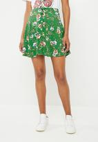 Superbalist - Mini skater skirt - green