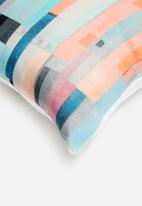 Grey Gardens - Coral cushion cover - pastel multi