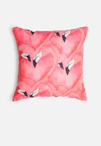 Grey Gardens - Flamingo cushion cover - pink