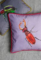 Grey Gardens - Scarlet bug cushion cover - purple multi