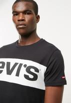 Levi's® - Classic colourblock tee - black