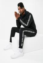 Superbalist - Tape print hoodie - black