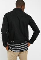 Superbalist - Basic Slim Denim Trucker Jacket - black
