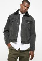 New Look - Lined denim jacket - dark grey