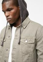 New Look - Denim hooded jacket - stone